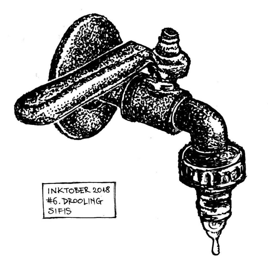 Drooling - Marker sketch