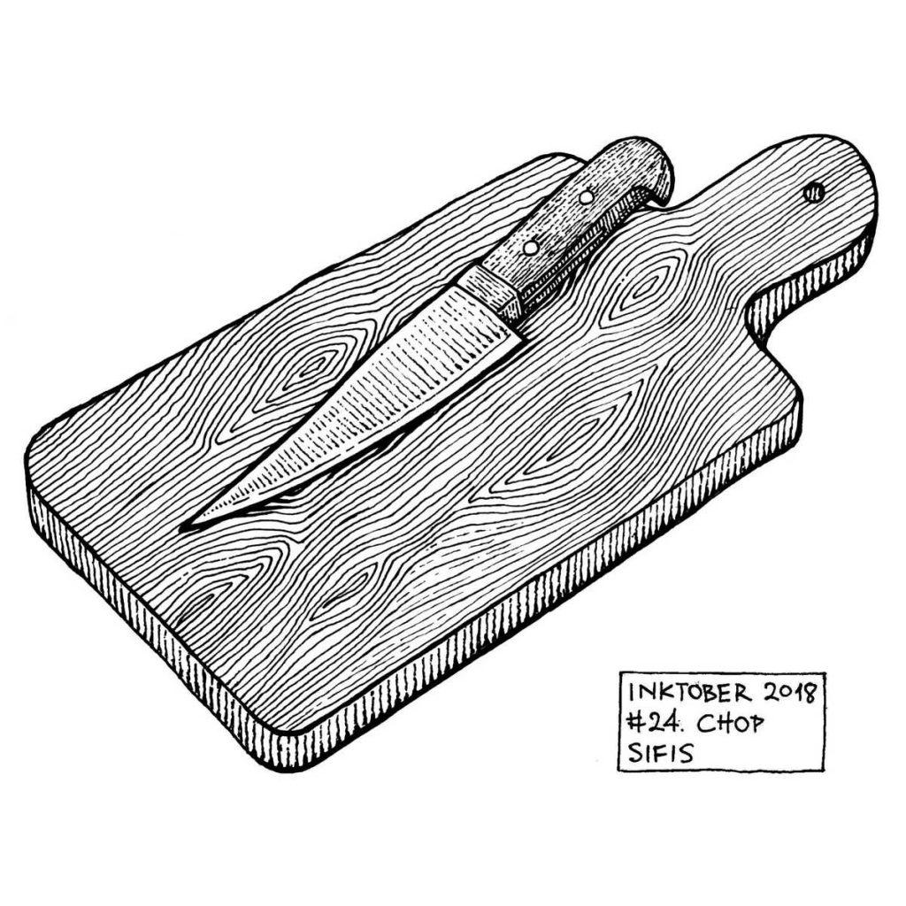 Chop - Marker sketch