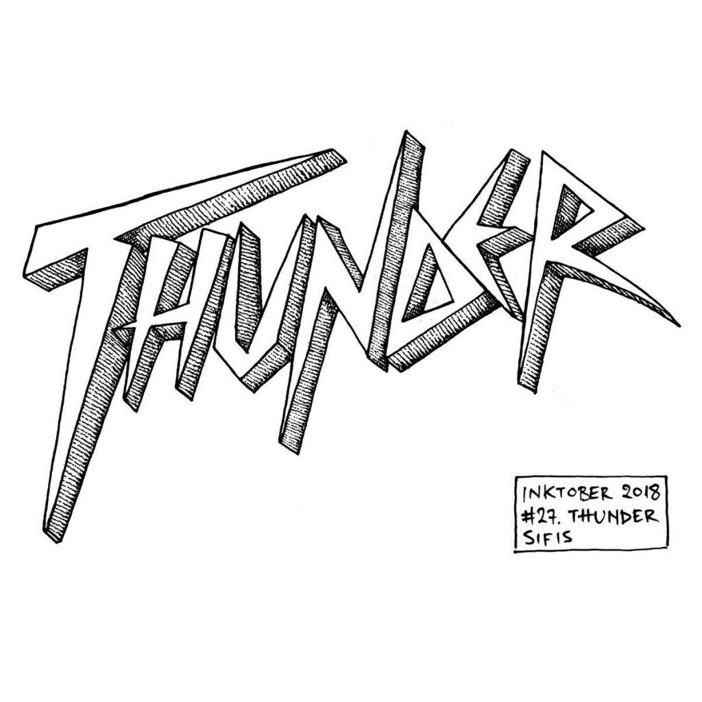 Thunder - Marker sketch