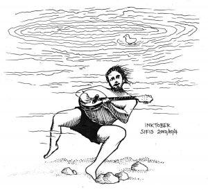 Underwater Bouzouki - Marker sketch