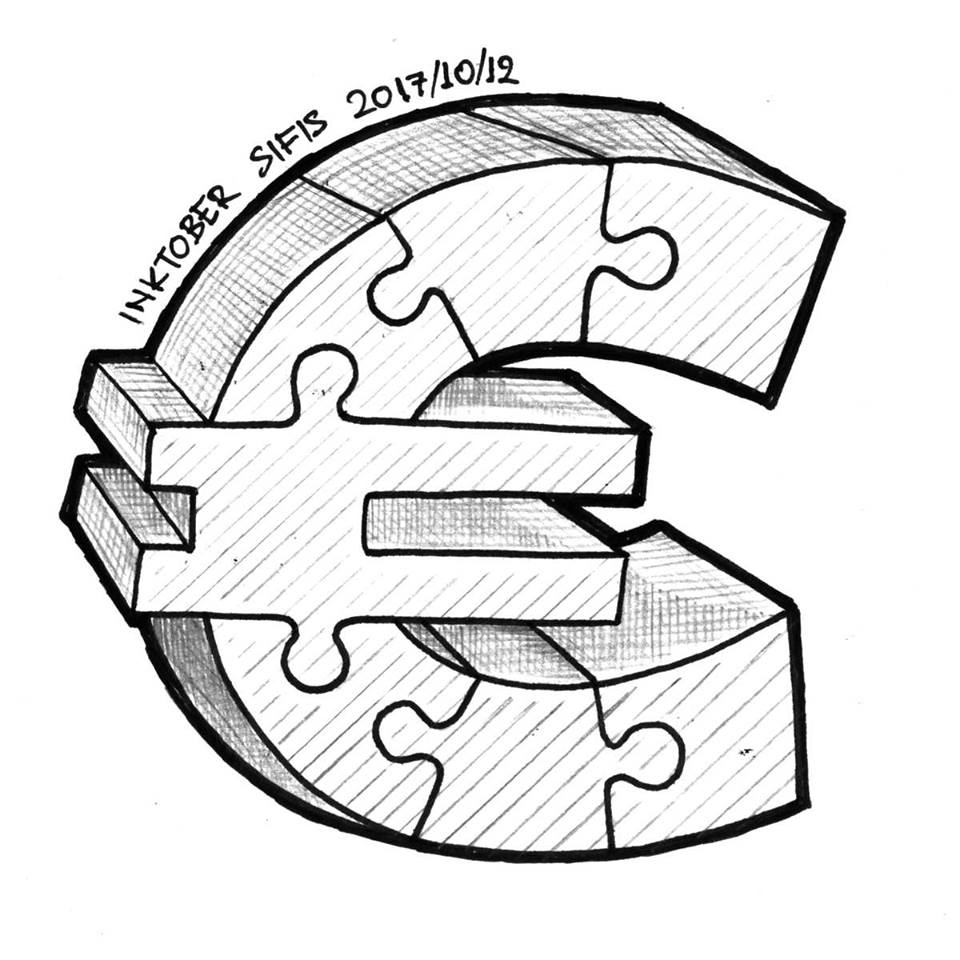 Euro puzzle - Marker and pencil