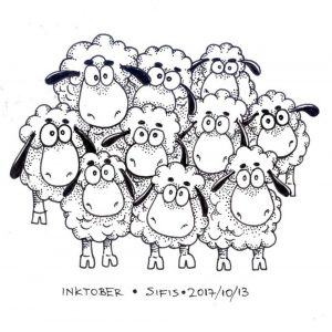 Sheeps - Marker sketch