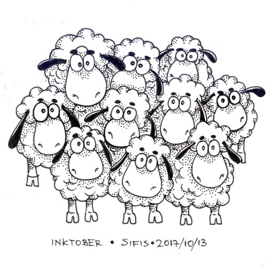 Sheeps - Marker sketch