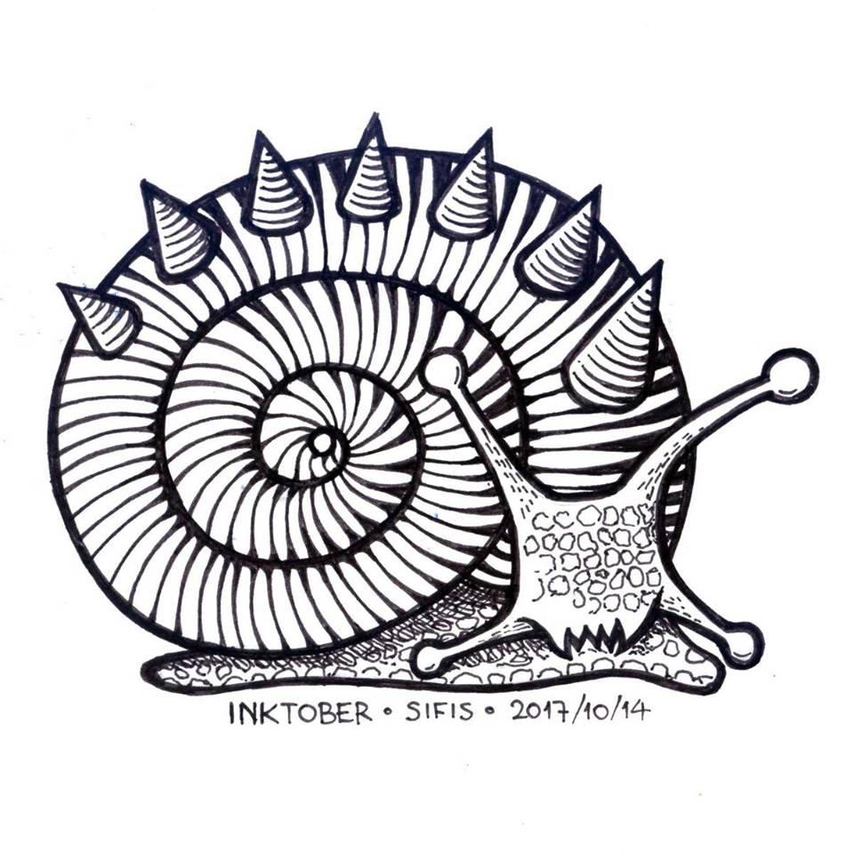 Fierce Snail - Marker sketch