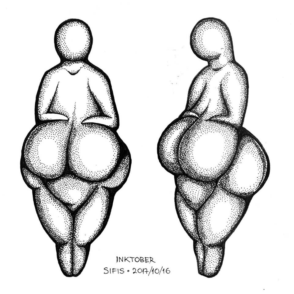 The Lespugue Venus - Marker sketch