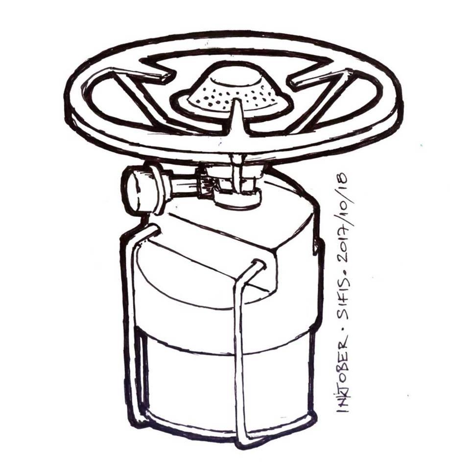 Mini Gas Stove - Marker sketch