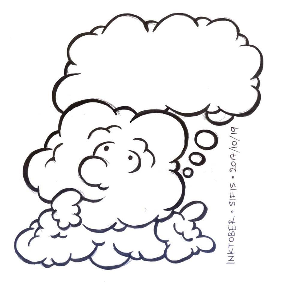Dreaming Cloud - Marker sketch