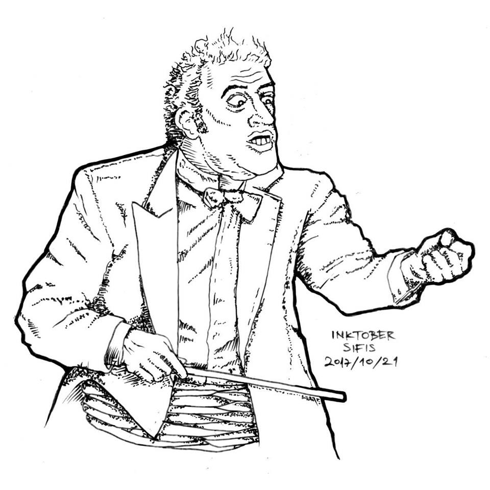 Angry Conductor - Marker sketch