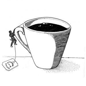 Tea-cup Climbing - Marker sketch