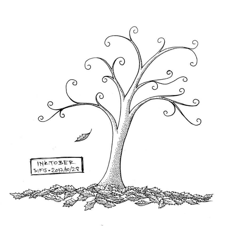 Autumn Tree - Marker sketch