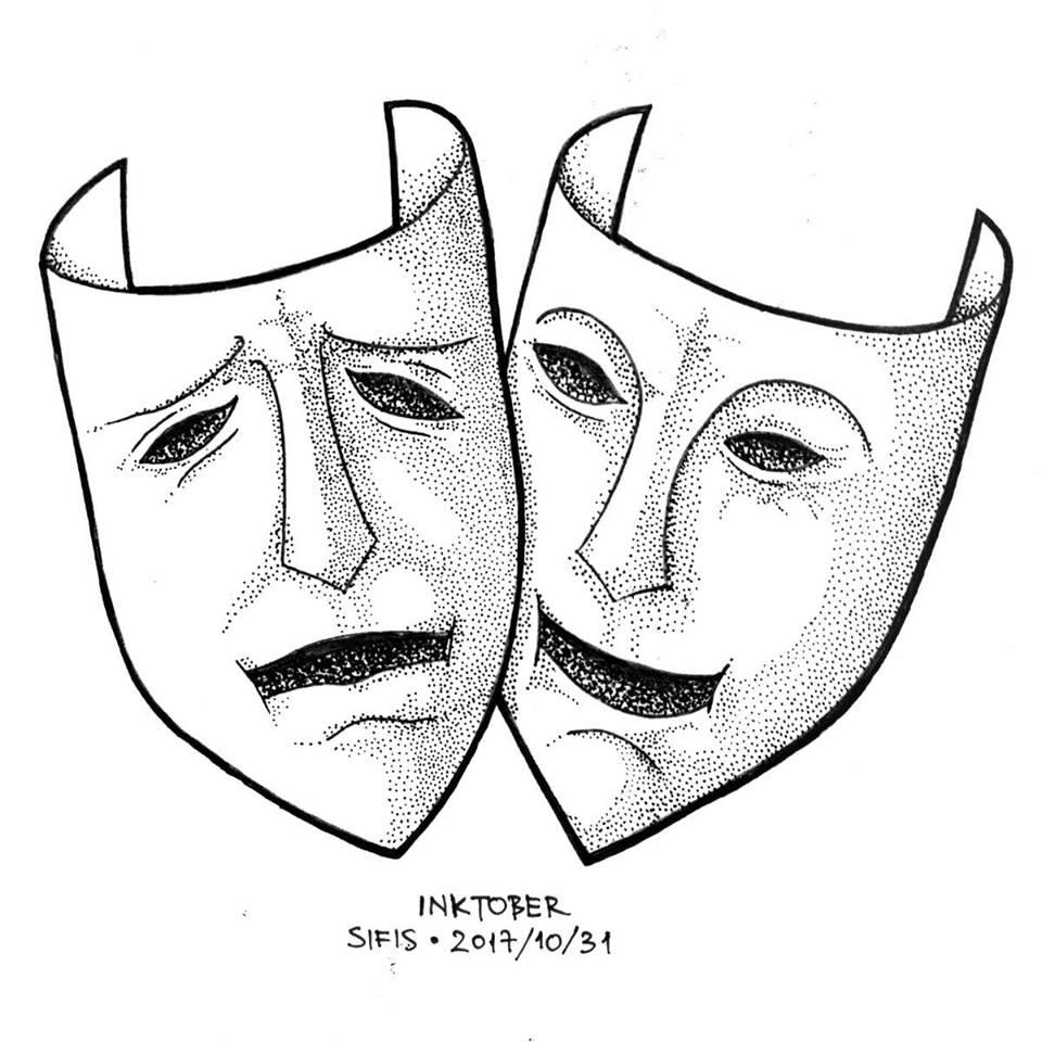 Masks - Marker sketch