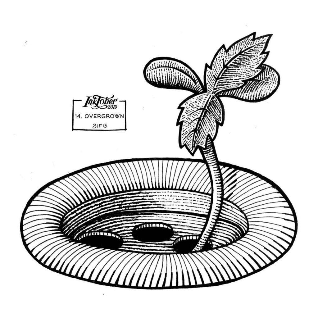 Overgrown - Marker sketch