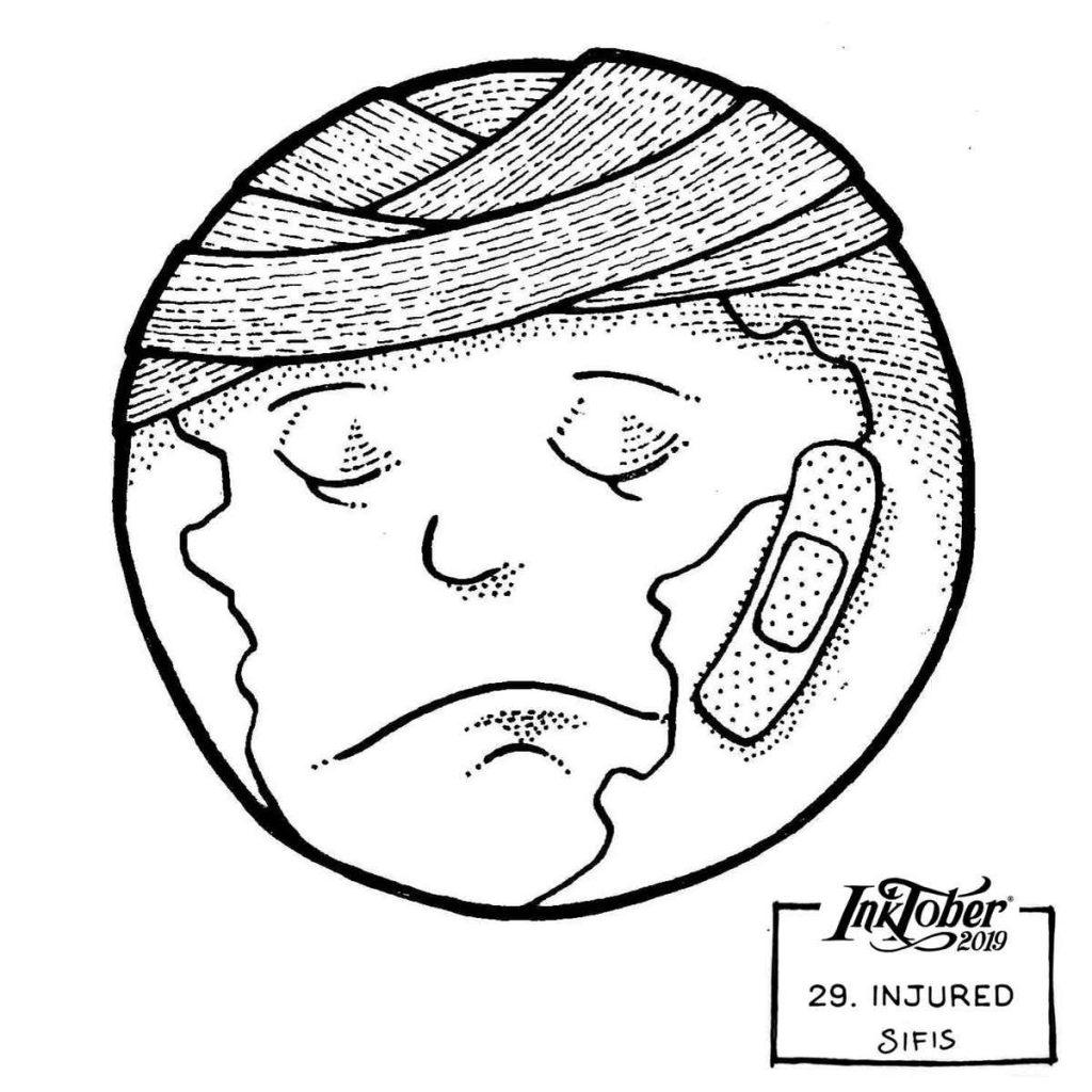 Injured - Marker sketch